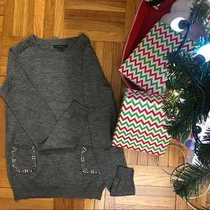 Silvian Heach wool acrylic embossed sweater.